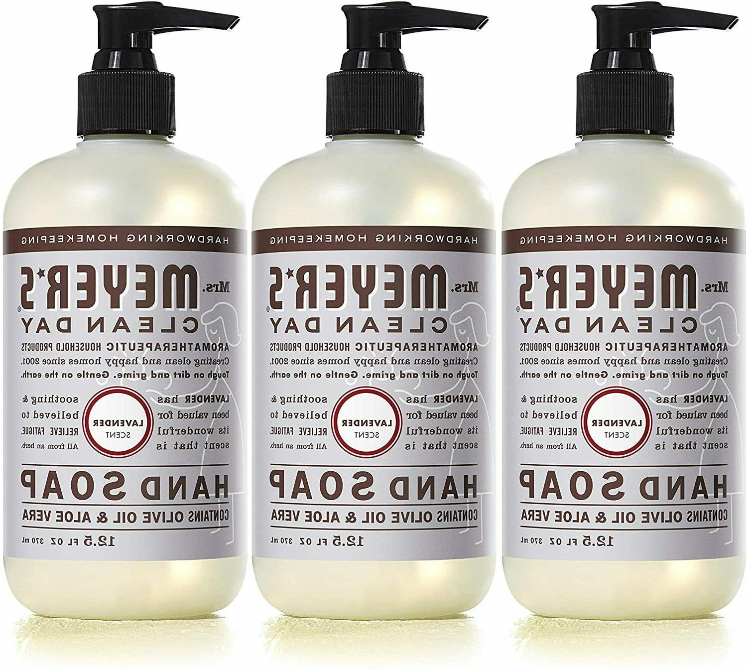 Mrs. Meyer's Clean Day Liquid Hand Soap, Lavender Scent, 12.