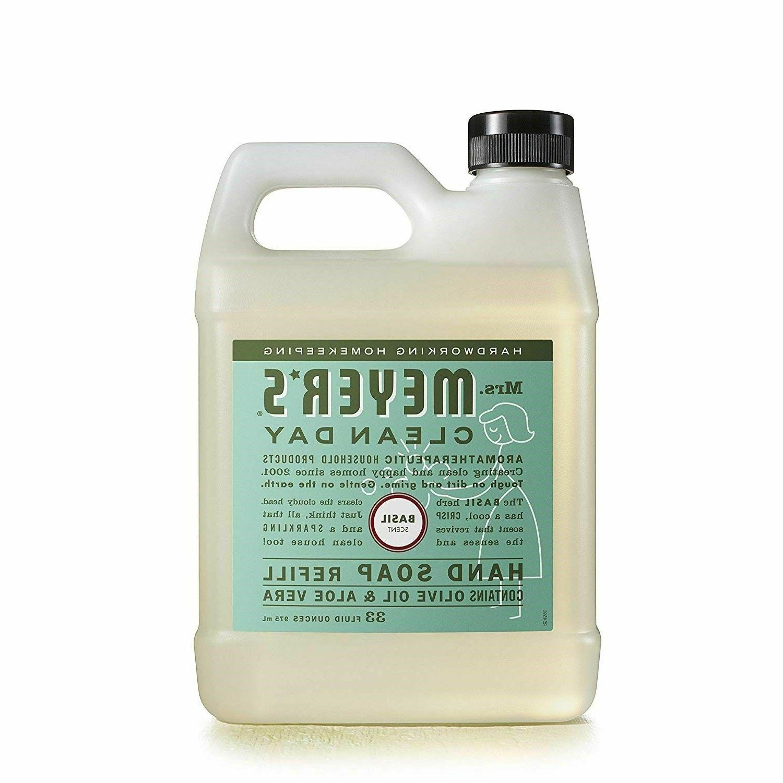 Mrs Meyers Liquid Soap Refill Natural Oil Basil 33