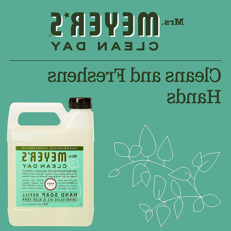Mrs Soap Clean Day Dispenser Liquid Basil 33oz