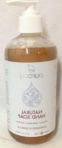 Puracy Natural Hand Soap  Lavender  Vanilla 12 fl oz  355 ml