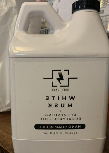 new bolt labs hand soap refill white