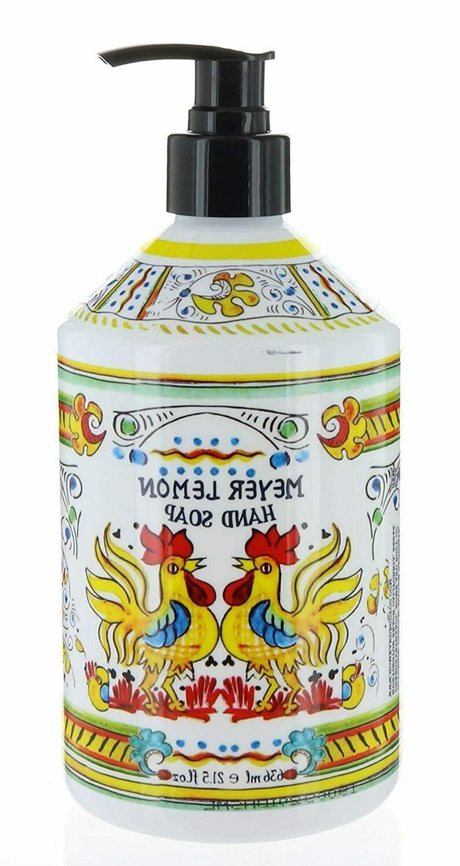 new italian deruta meyer lemon hand soap
