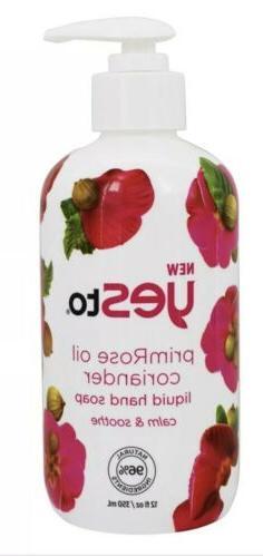 New Yes to Primrose Oil Coriander Liquid Hand Soap 12fl oz N