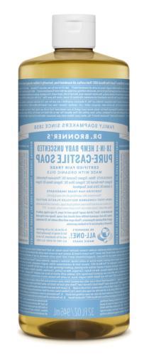 Dr. Bronner's Organic Pure Castile Liquid Soap Baby-Mild Uns