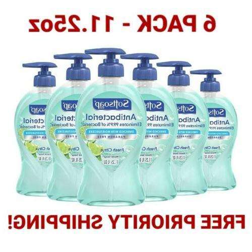 set of 6 antibacterial 11 25 oz