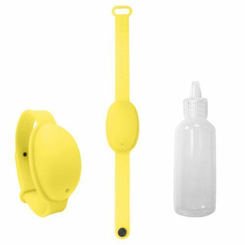 Silicone Bracelet Soap Dispenser+Bottle For Outdoor Travel