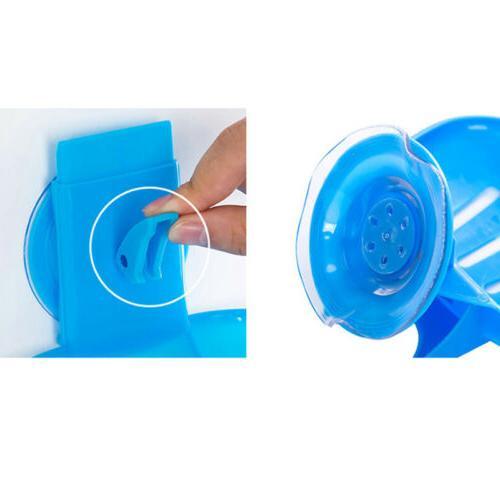 Soap Dual Holder Bathroom Shower Cup Sponge Tray