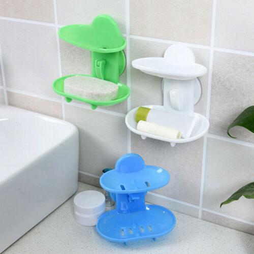 soap dish suction wall dual holder bathroom