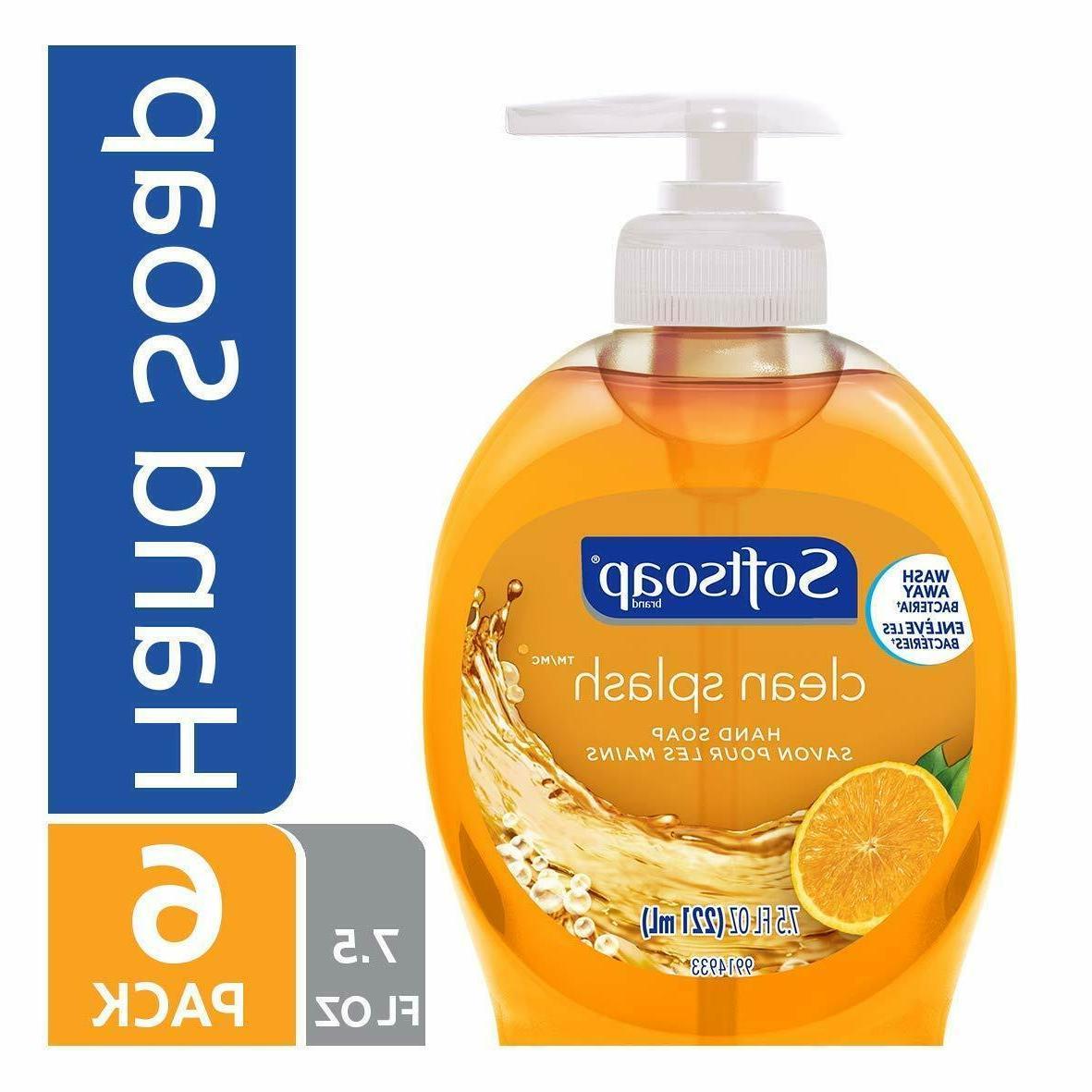 softsoap liquid hand soap clean splash 7