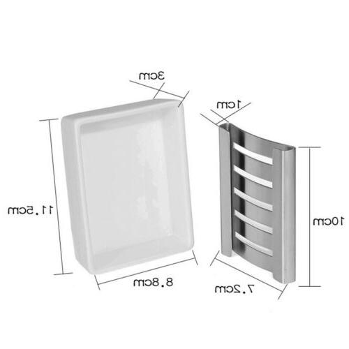 Stainless Soap Dish Holder With Seat Bathroom