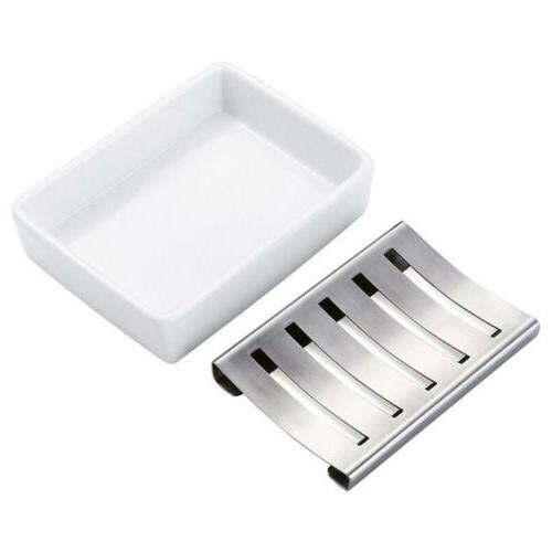 Stainless Steel Soap Dish Holder Bathroom Shower Riser