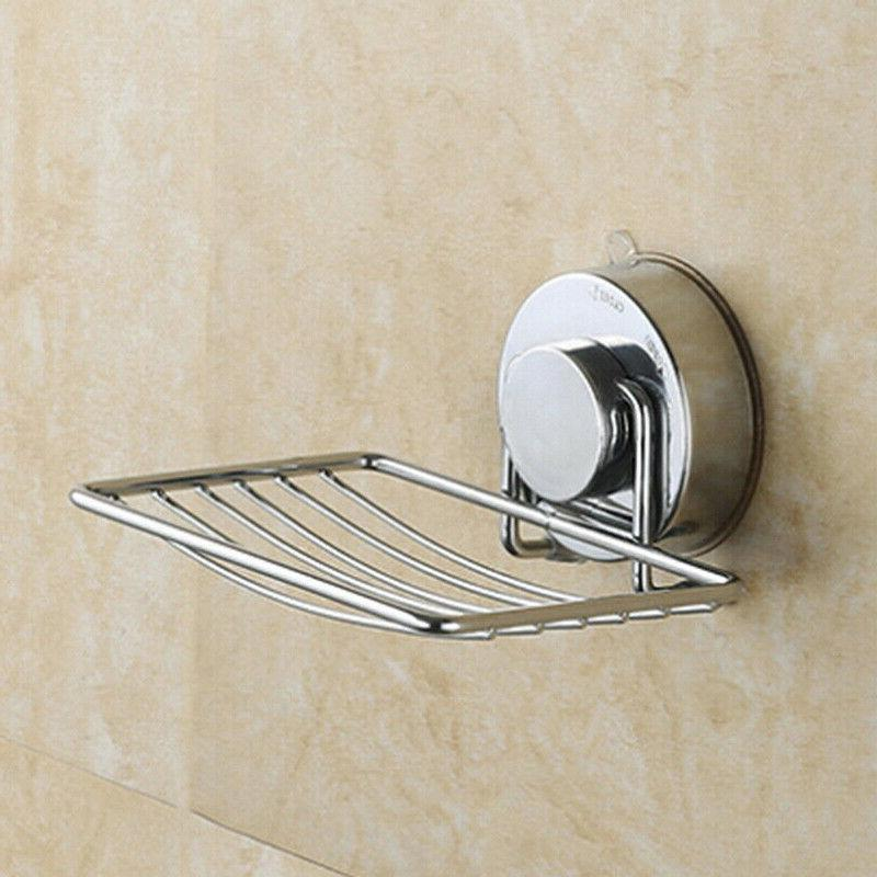 stainless steel suction cup soap dish wall
