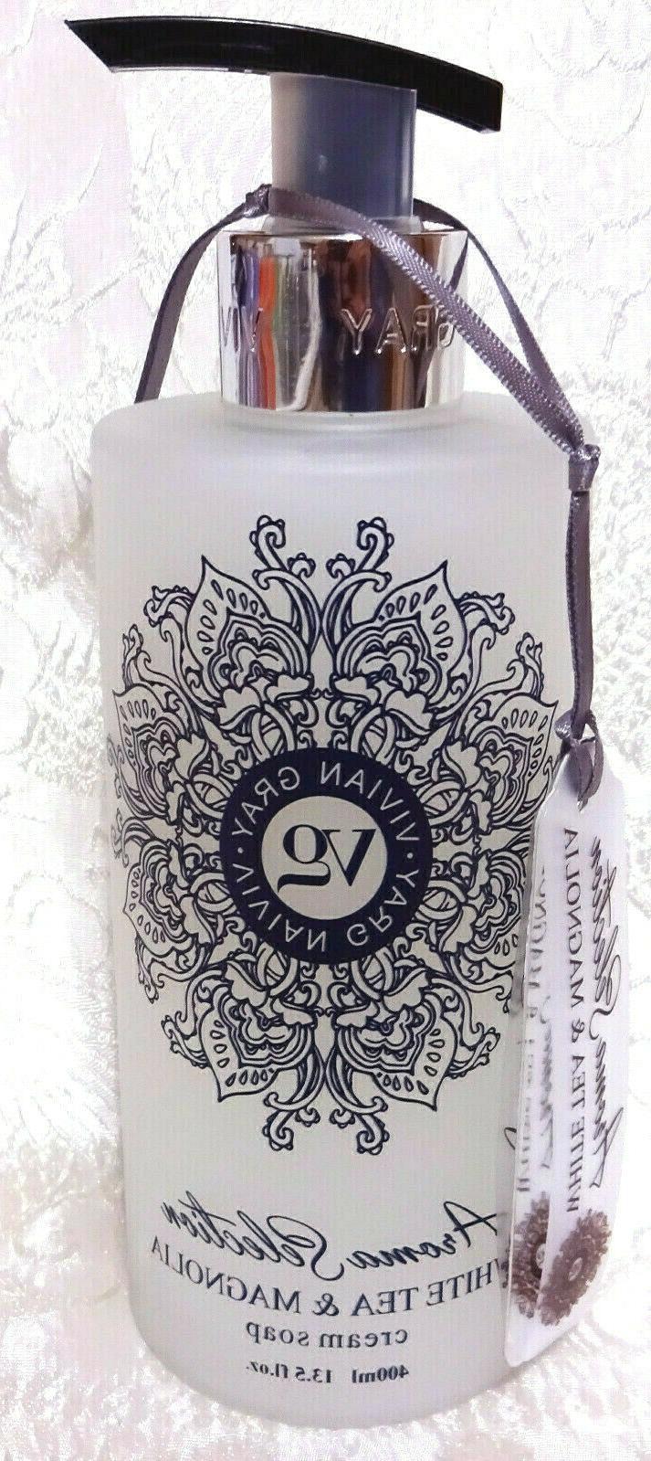 Vivian Gray WHITE TEA & MAGNOLIA Cream Hand Soap 13.5 in Germany 2