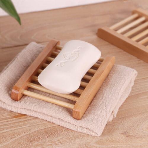 Wooden Dish Holder Drain Rack Bathroom Accessories