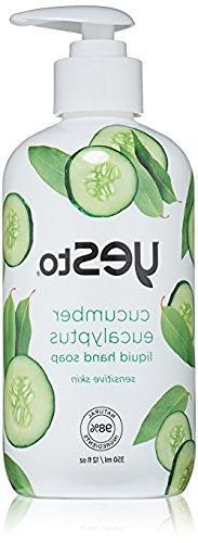 Yes To Cucumbers Eucalyptus Liquid Hand Soap, Sensitive Skin