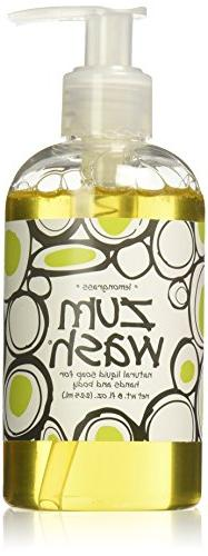 Indigo Wild Zum Wash Natural Hand & Body Liquid Soap, Lemon