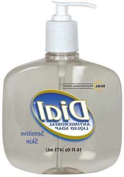 DIAL LIQUID ANTIMICROBIAL SOAP SENSITIVE SKIN 16 OZ PUMP