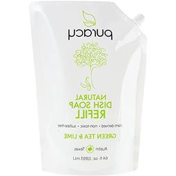 Puracy Natural Liquid Dish Soap Refill, Sulfate-Free Hand Di