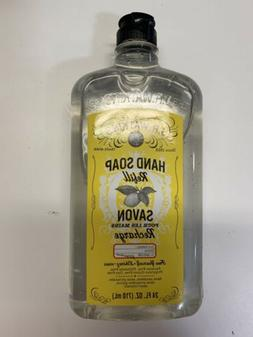 J.R. Watkins Natural Liquid Hand Soap, Lemon, 24 Ounce Refil