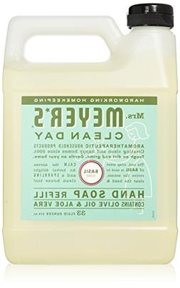 Liquid Hand Soap Refill, Basil Scent, Mrs. Meyers Clean Day,