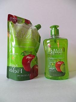 Klar & Danver Liquid Pump Hand Soap + Refill Apple Fields