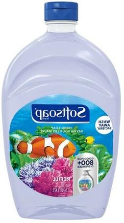SOFTSOAP Liquid Hand Soap Refill Aquarium BIG 50 oz Clear Bo