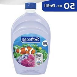 SOFTSOAP Liquid Hand Soap Refill Aquarium BIG 50 oz Clear Bo