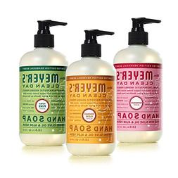 Mrs. Meyer's Clean Day Liquid Hand Soap 3 Scent Variety Pack