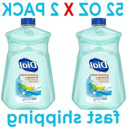 Dial Liquid Hand Soap Refill, Coconut Mango, 52 Ounce