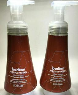 Method Lot of 2 LIMITED EDITION Copper Rain Foaming Pump Han