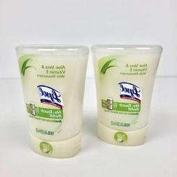 Lot of 2 Lysol No-Touch Refill Aloe Vera & Vitamin E Hand So