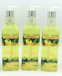 Lot of 3 Sparkling Limoncello Hand Soap with Olive Oil, 15 o