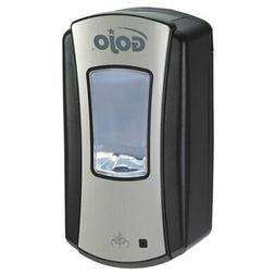 GOJO LTX-12 Foam Soap Touch-Free Dispenser, Chrome/Black Fin