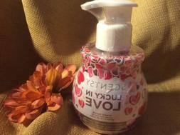 Scentsy LUCKY IN LOVE Hand Soap Pump Mondrian Peaches & Berr