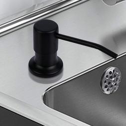 Matte Black Kitchen Sink Soap Dispenser Countertop Pump Hand
