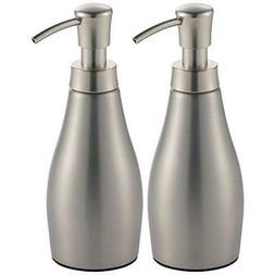 mDesign Modern Metal Refillable Liquid Soap Dispenser Pump B