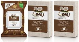 Yes to Coconut Milk Bar Soap  and Cleansing Wipes Bundle wit