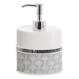 Creative Scents Mirror Damask Hand Soap Dispenser, Counterto