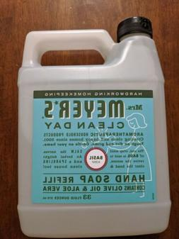 Mrs. Meyers Clean Day Hand Soap Refill Basil Scent 33 Oz.
