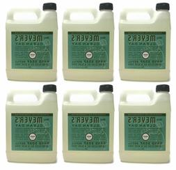 Mrs Meyers Clean Day Hand Soap Refill Basil Scent 6-Pack 33
