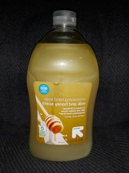NEW Up & Up Moisturizing Hand Soap Milk and Honey Scent 56 f