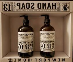 Newport+Home hand soap. Set of 2 bottles: Creamy Coconut + S