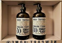 Newport+Home hand soap. Set of 2 Sweet Orange bottles