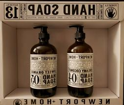 Newport+Home hand soap. Set of 2 bottles: Creamy Coconut + S
