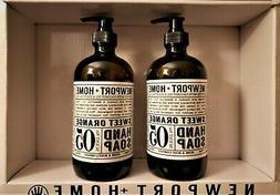 Newport+Home hand soap Sweet Orange, Set of 2 bottles x16 oz