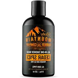 All-in-One Shower Wash for Men – Shampoo, Body Wash, Condi