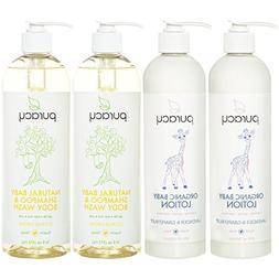 Puracy Organic Baby Care Gift Set , Nontoxic Moisturizing Lo