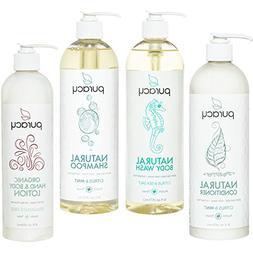 Puracy Organic Hair & Skin Care Set , Natural Body Wash, Sha
