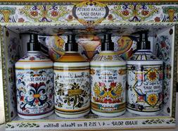 Perfume Italian Deruta hand soap Collection Gift Set 21.5oz