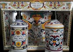 perfume italian deruta hand soap set of